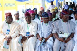 L-R Deputy Majority Leader, Lagos Assembly, Hon.Muyiwa Jiomoh; Chief Whip, Hon.Rotimi Abiru; Majority Leader, Hon S.O.B Agunbiade; hon.Abdus-Sobur Adewale and some Lawmakers.