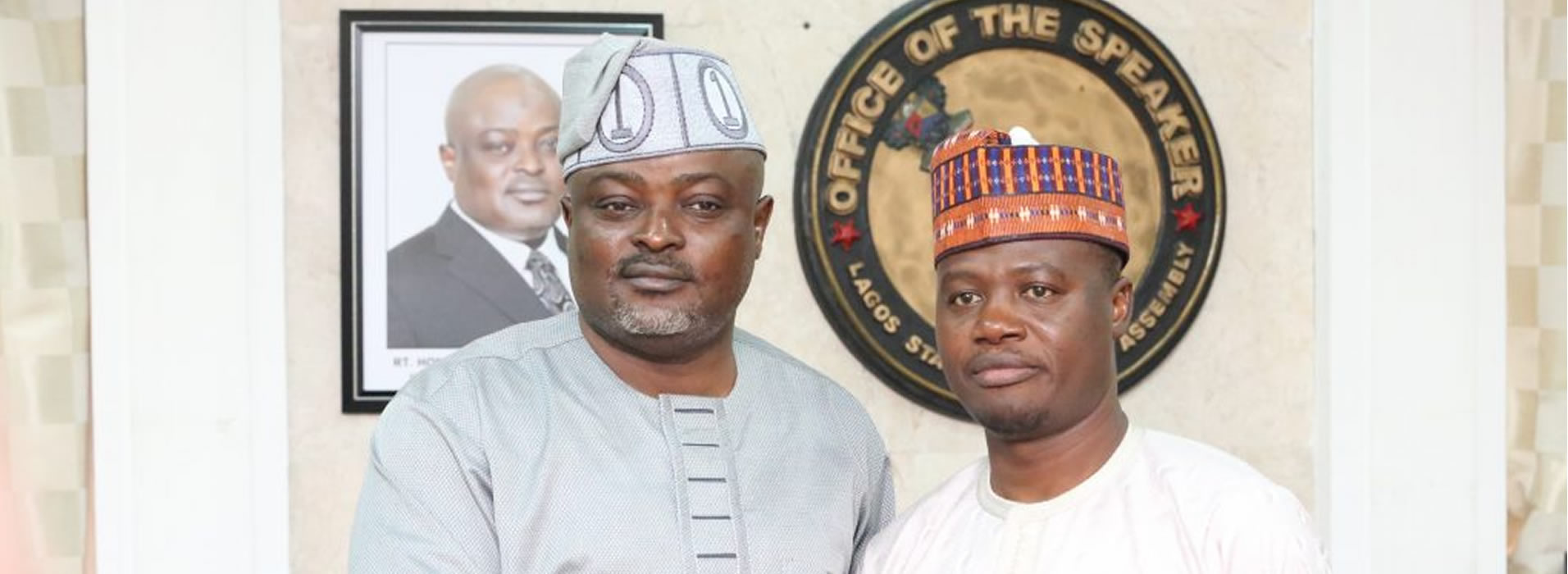 LAGOS SPEAKER AND MEMBERS RECEIVE VISITING KOGI SPEAKER