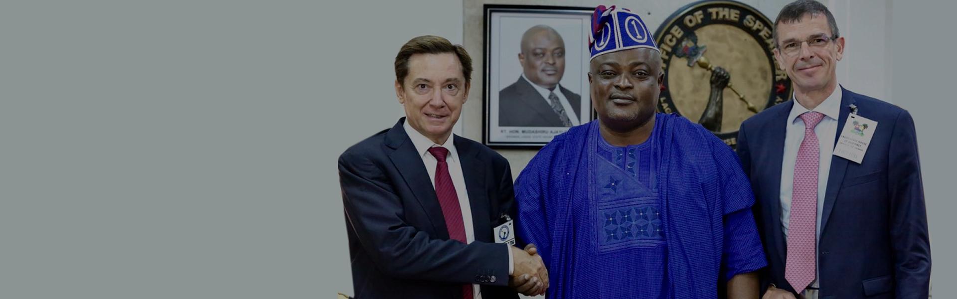 Rt. Hon. Mudashiru Ajayi Obasa received the French Ambassador to Nigeria Mr. Denys Gauer