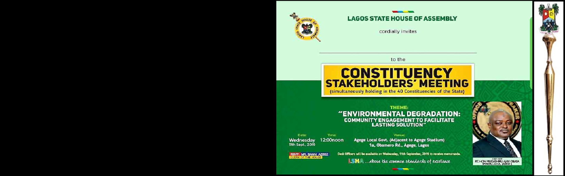 Lagos State House of Assembly hosts its annual Stakeholders meeting