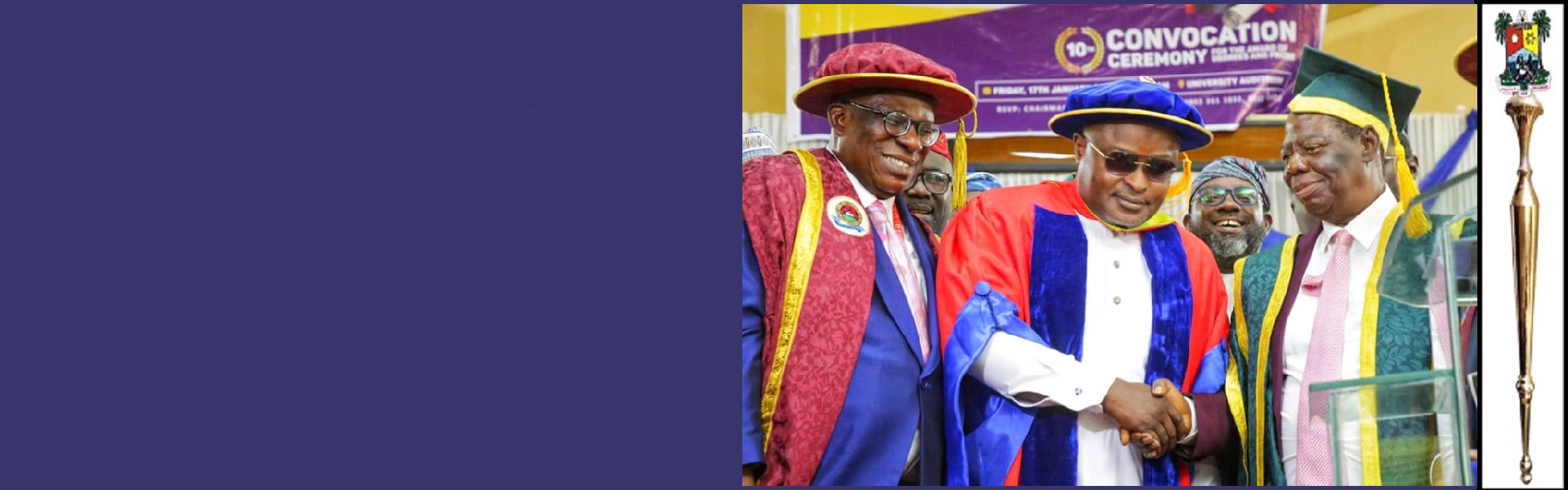 Rt. Hon. Mudashiru Ajayi Obasa, Speaker, Lagos House of Assembly and Chairman Conference of Speakers of State Legislature honoured with Doctor of Philosophy in Political Science( Honoris Causa).