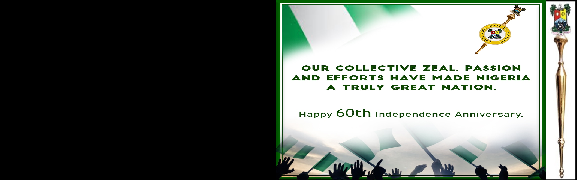 NIGERIA@60: LET THE UNITY OF NIGERIA REMAIN IN OUR DNA – SPEAKER OBASA